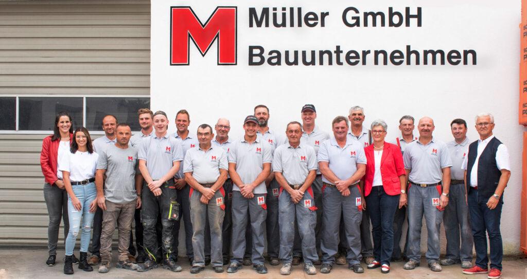 Gruppenfoto Müller Bau